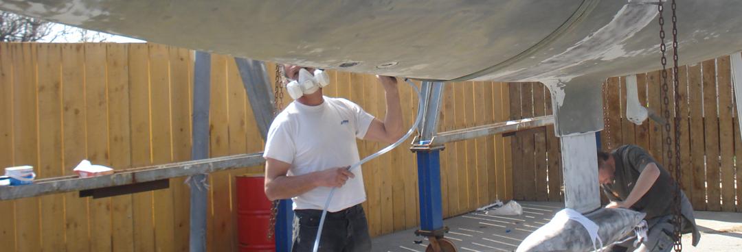 Peinture au chantier de provence